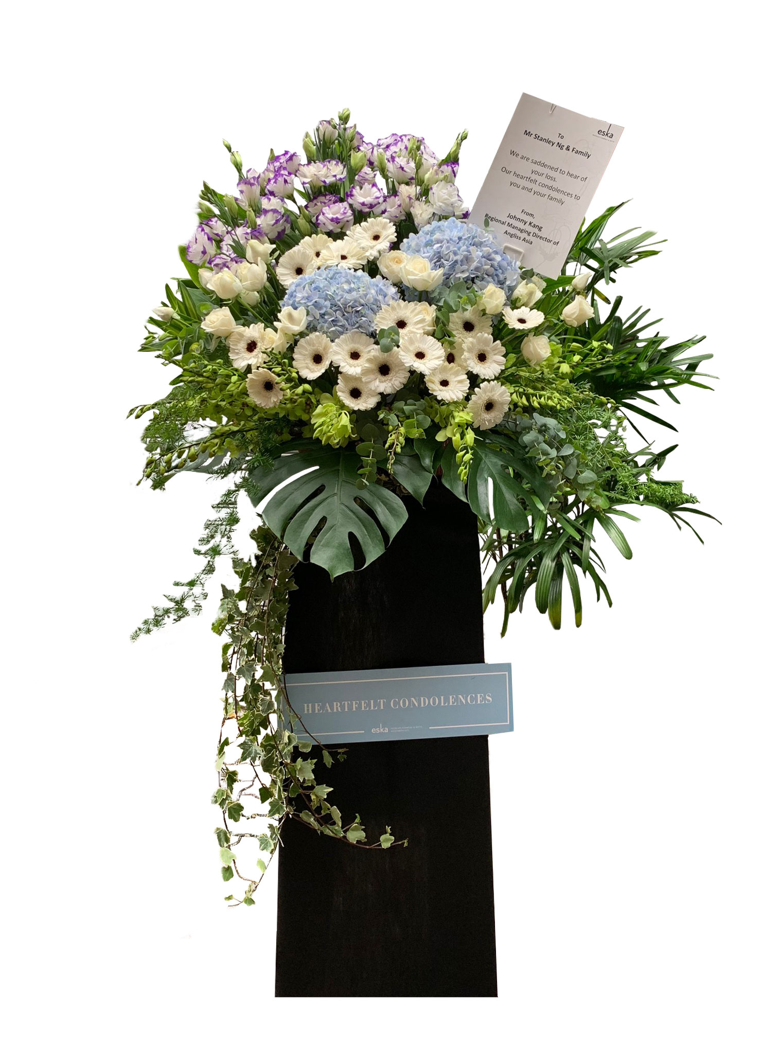 Comforting Funeral Flower Stand | Condolence Flower | Eska Creative Gifting