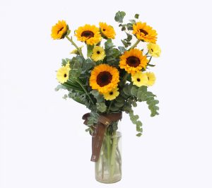 Sunflower and Daisies   Flowers In Vase   Eska Creative Gifting