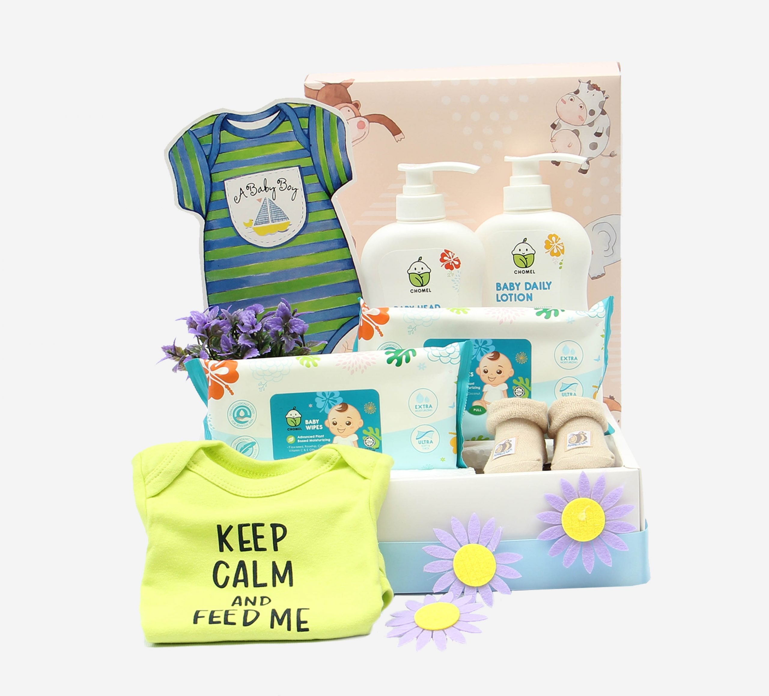 Hello Si Comel | New born baby gifts | Eska Creative Gifting