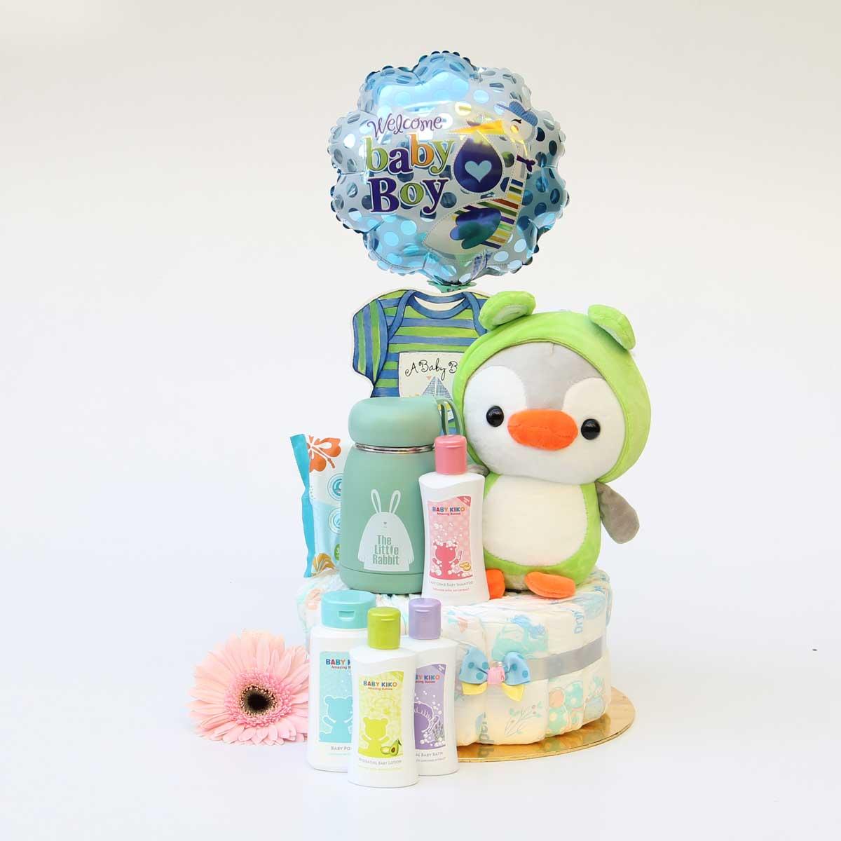 Baby Bath Diaper Cake | Newborn Baby Gifts | Eska Creative Gifting