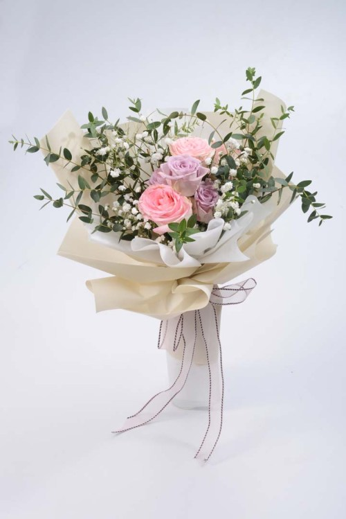 Sweetest You Patel Roses Bouquet | Valentines Special | Eska Creative Gifting