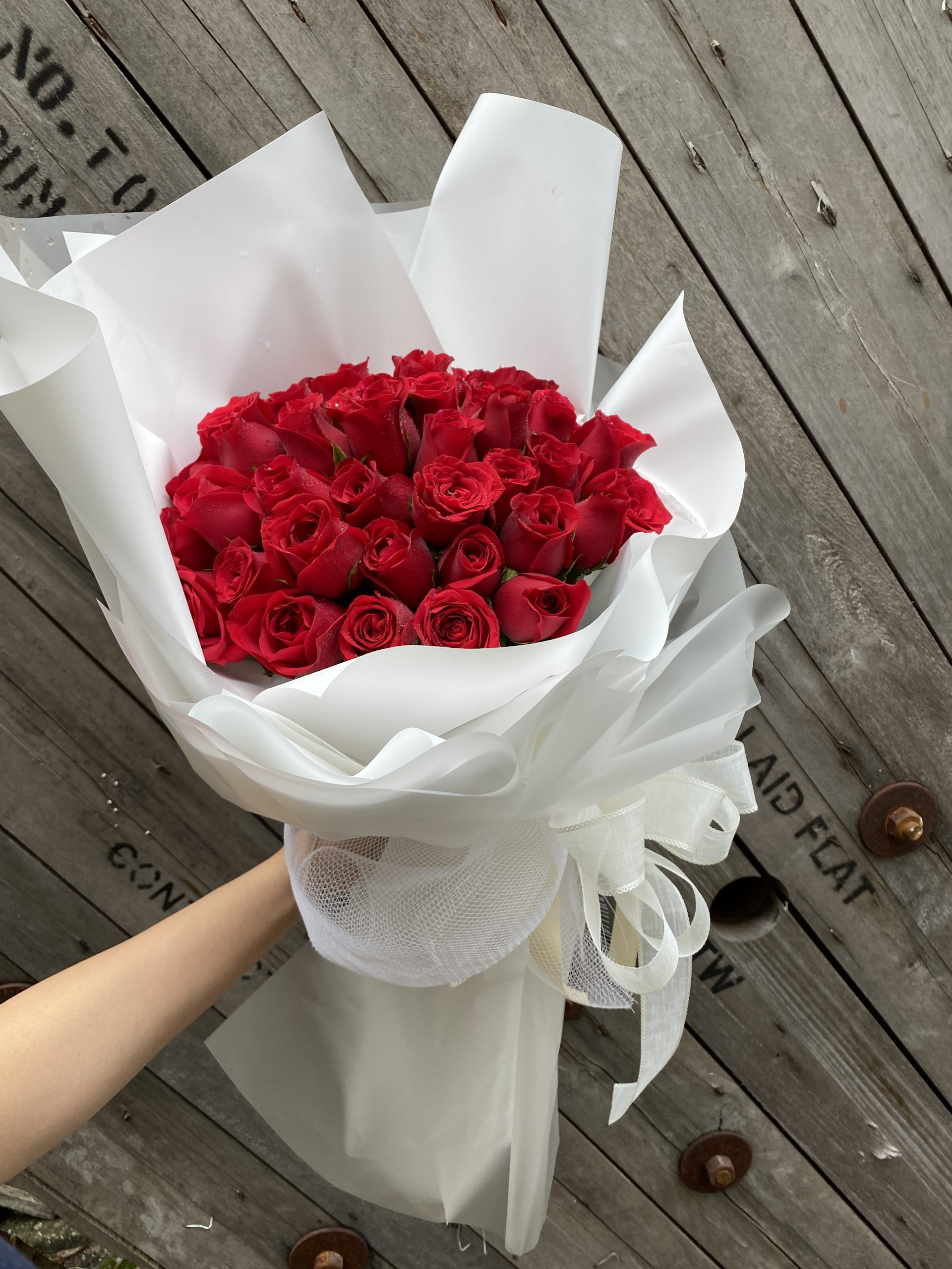 Truly Yours Red Roses Bouquet   Valentines Special   Eska Creative Gifting