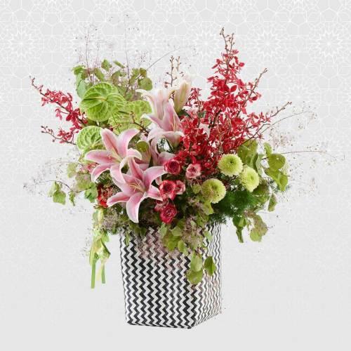 Lilies & Orchids | Beautiful Baskets & Flower Box | Eska Creative Gifting