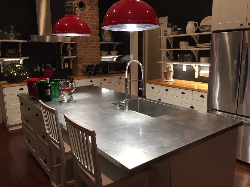 stainless steel counter tops sinks