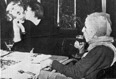 Carson-McCullers,Marilyn-Monroe-yu-operken,Isak-Dinesen-1959