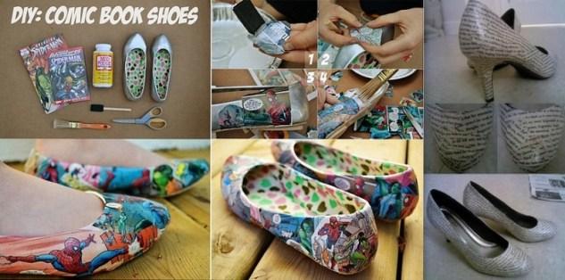 kendin-yap-cizgi-roman-desenli-ayakkabilar