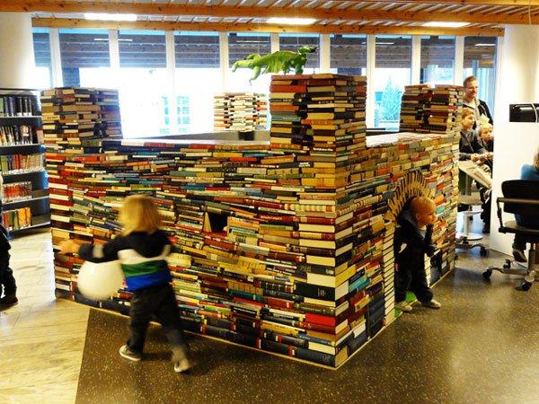 kitaplardan-yapilmis-yapilar-Trondheim-library