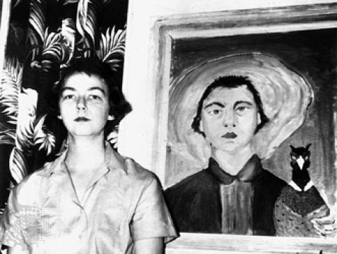 Flannery-O-Connor-1953-selfportrait-3