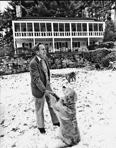 John-Cheever_out-with-his-dogs-on-a-snowy-day