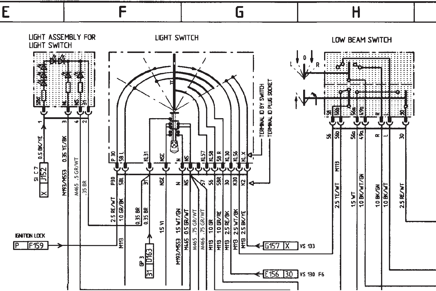 Boxster Headlight Switch Wiring Diagram