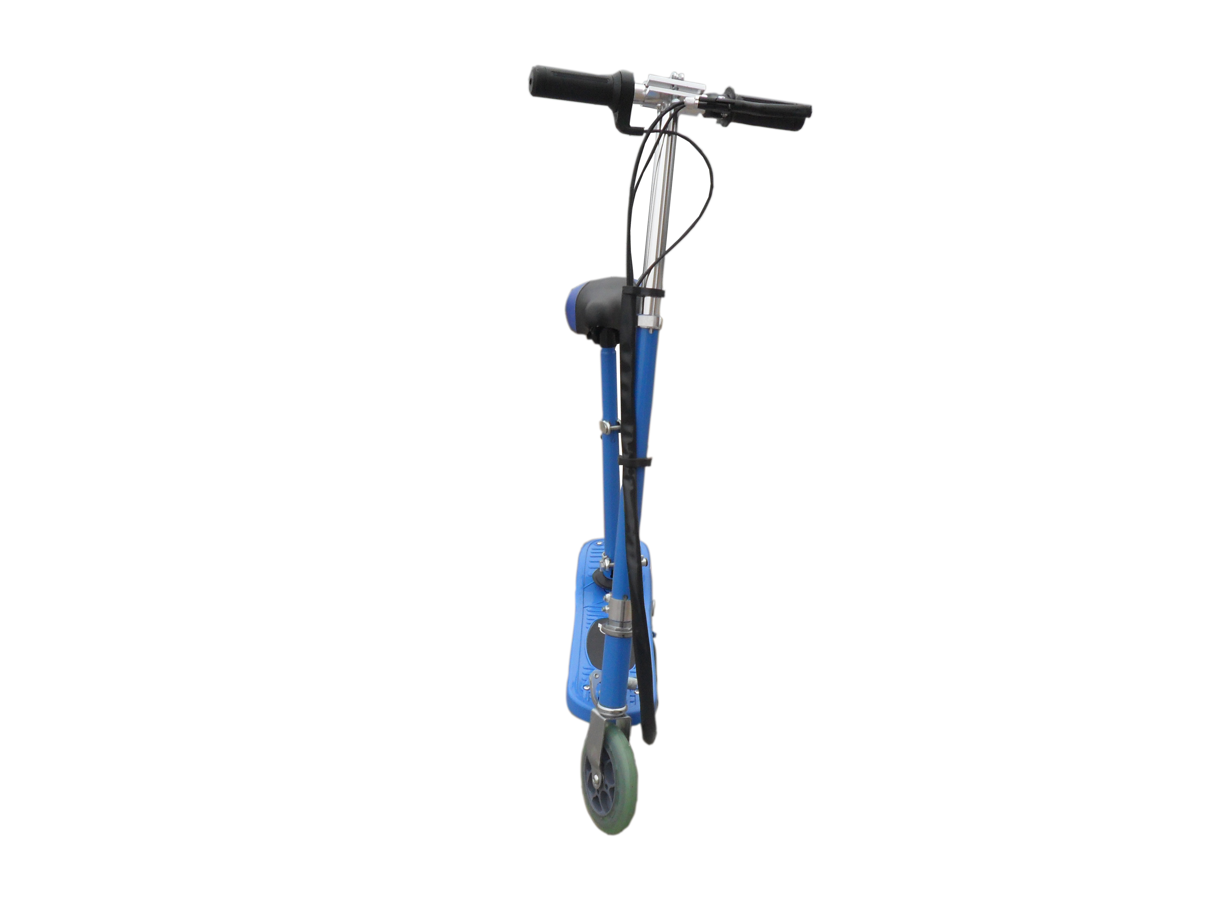 Blue Electric Scooter With Removable Seat