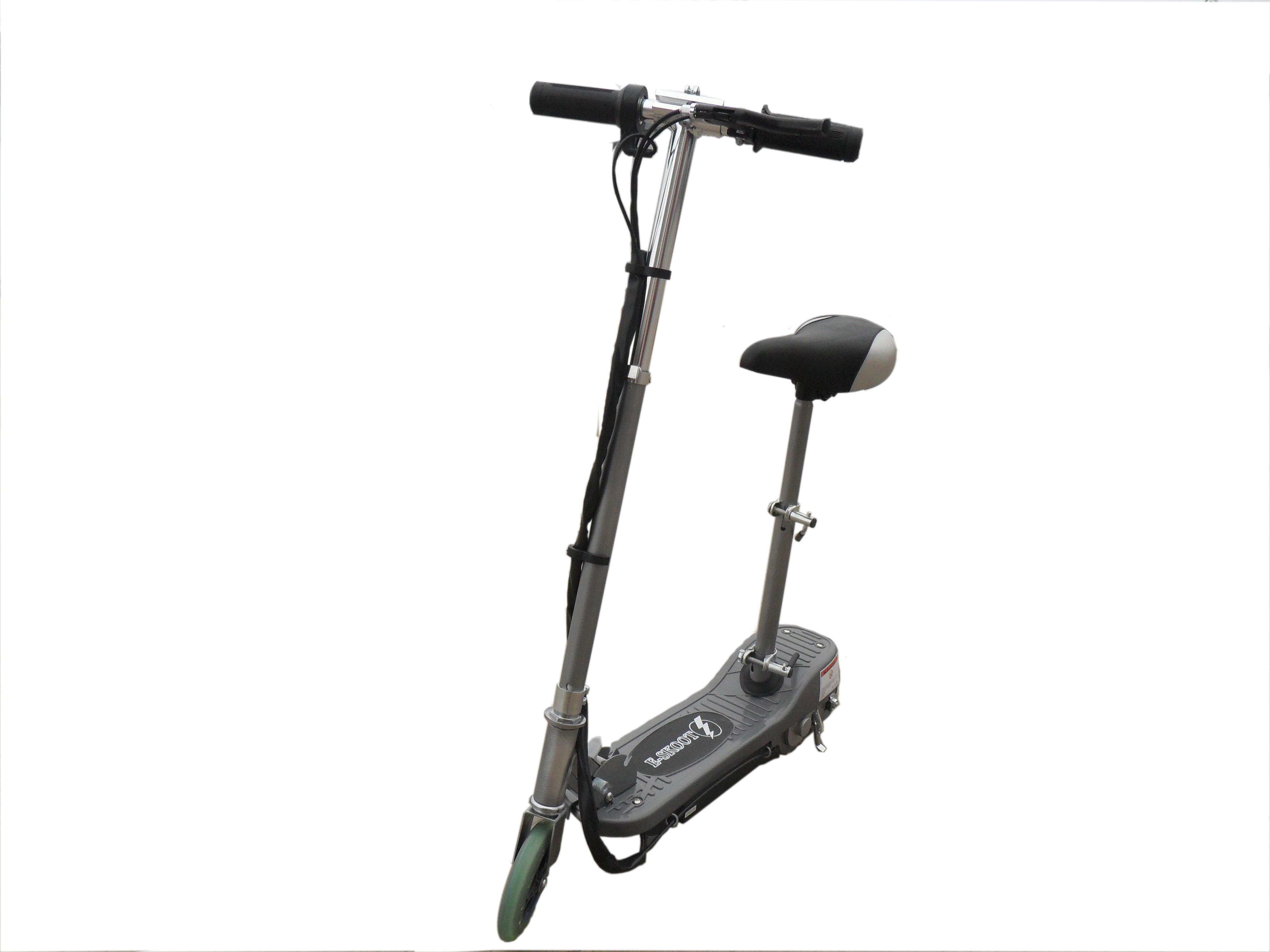 Silver Kids Electric Scooter With Seat
