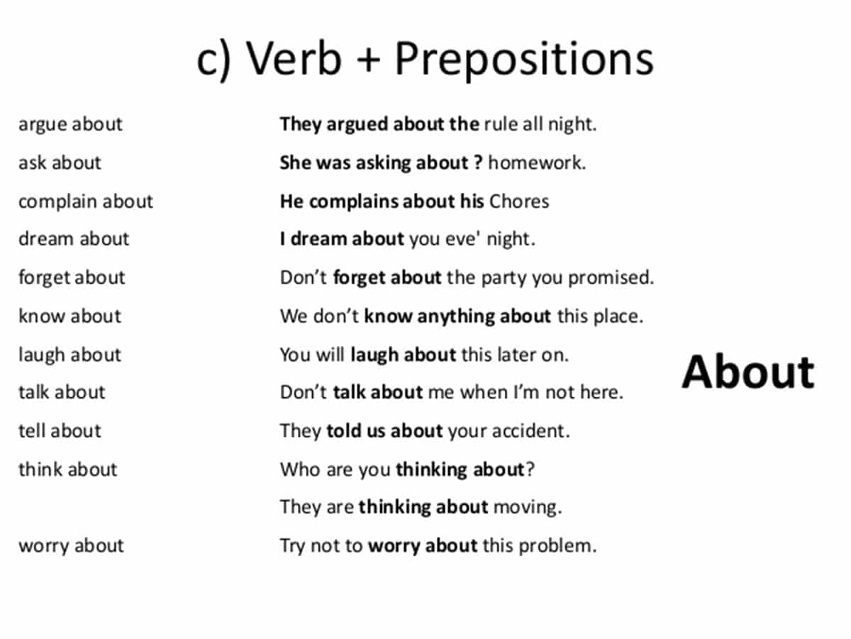 Adjectives Prepositions List Of At From In Learn