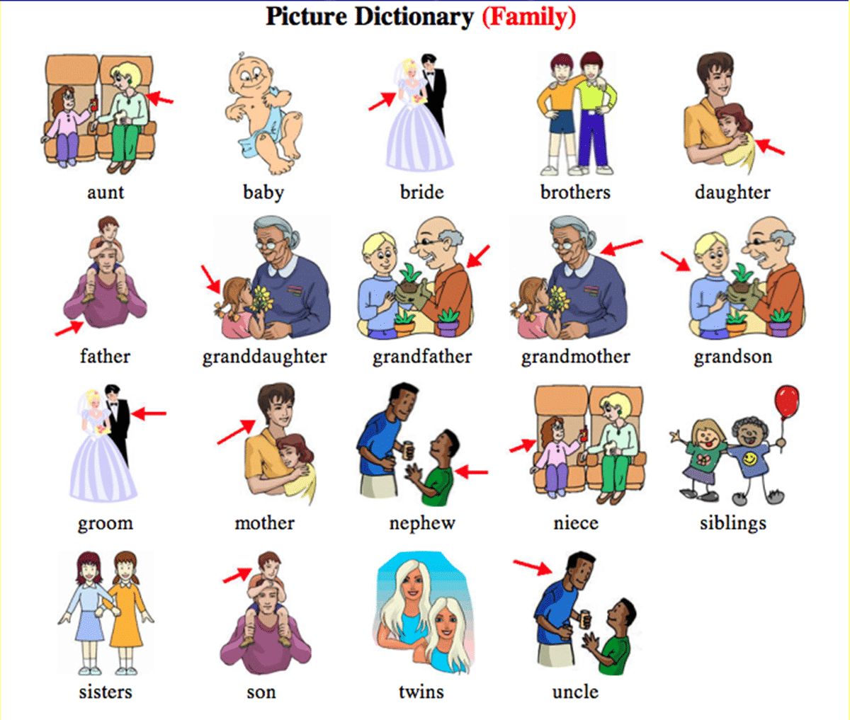 english vocabulary family relationship