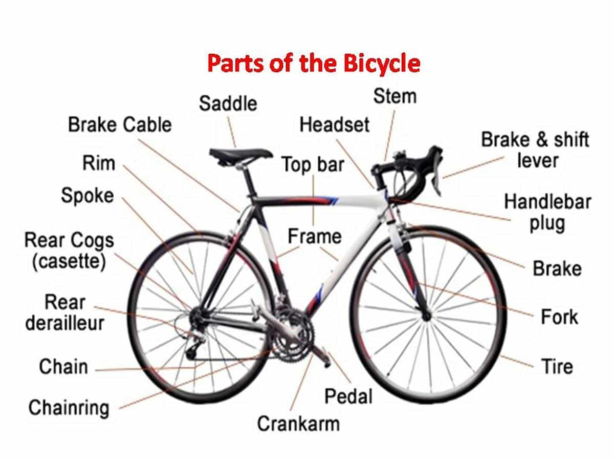 English Vocabulary Different Parts Of A Bicycle