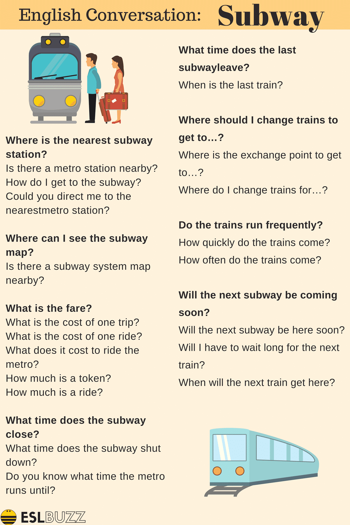 Easy Conversations About Transportation For Esl Students