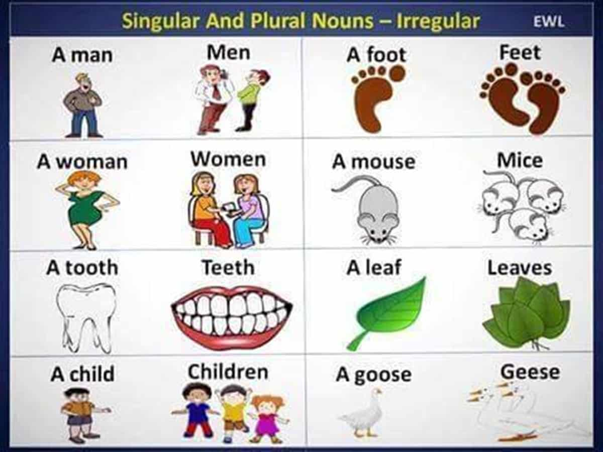 the most common irregular plural nouns in english esl buzz Heart Clip Art Baby Clip Art