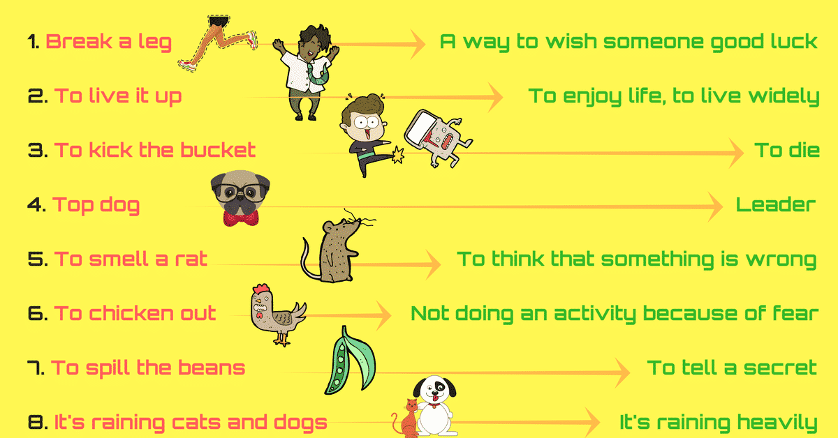 Popular Idioms Used in Daily Conversation with Their Meaning 12