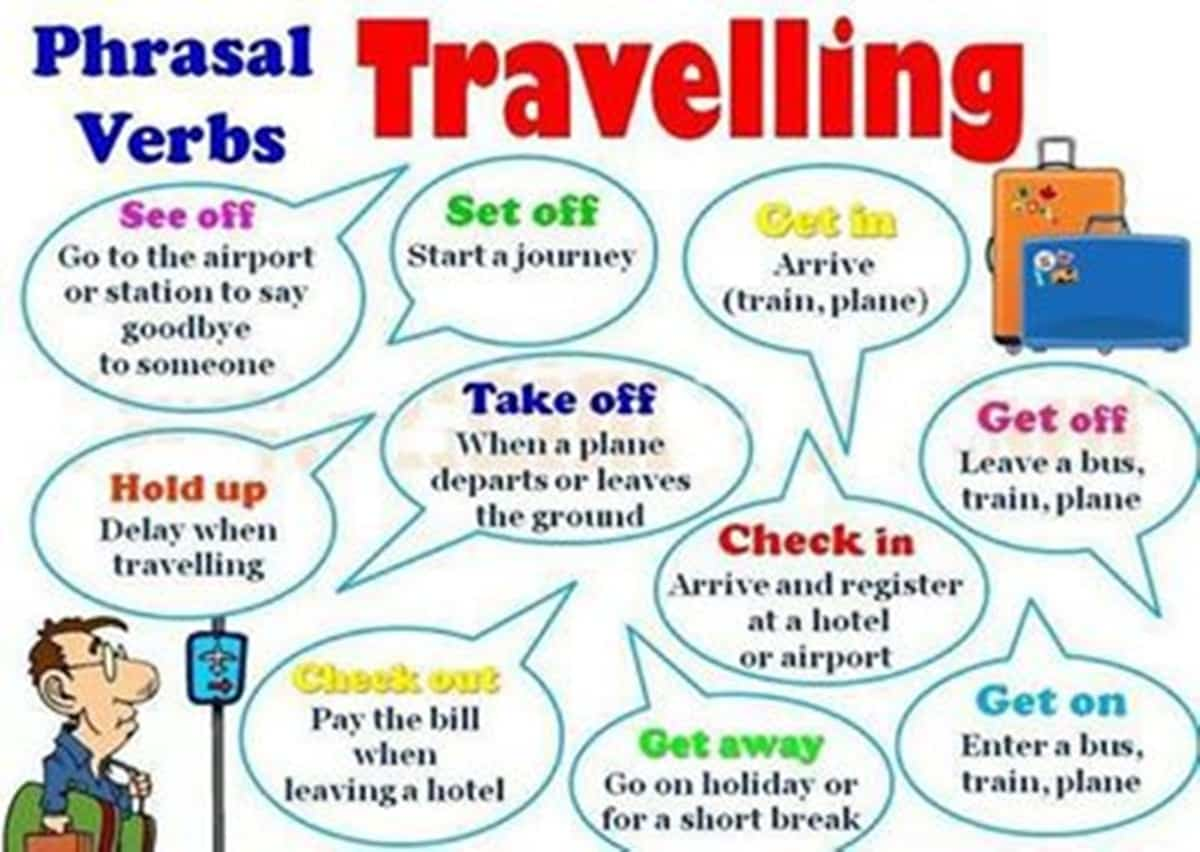 Frequently Used Phrasal Verbs in English: Relationships and Travelling 15