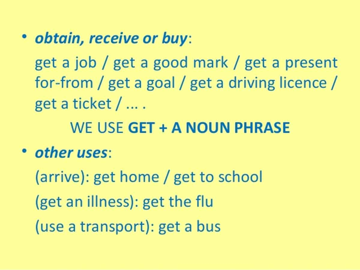 Commonly Used Expressions with GET in English 17