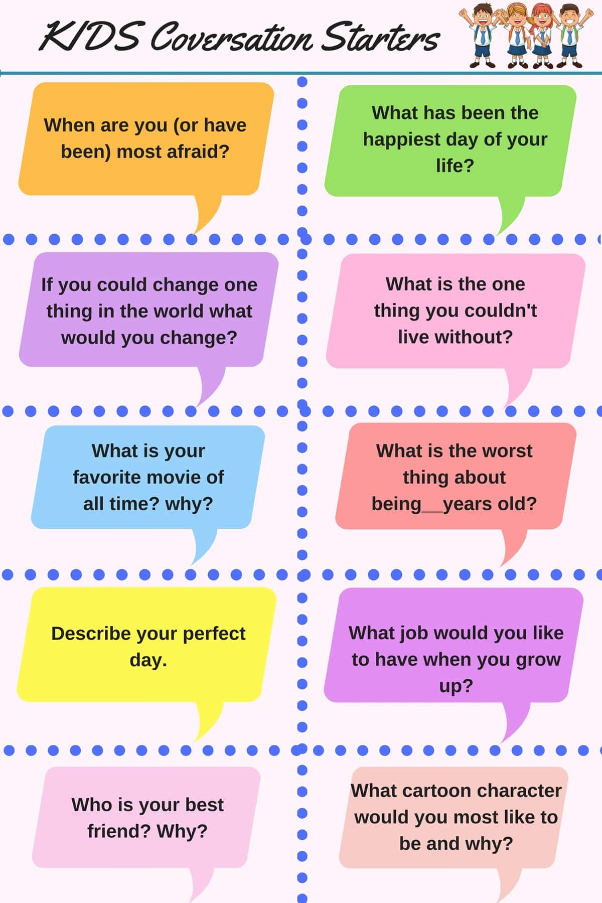50 Questions To Start A Conversation With Anyone In
