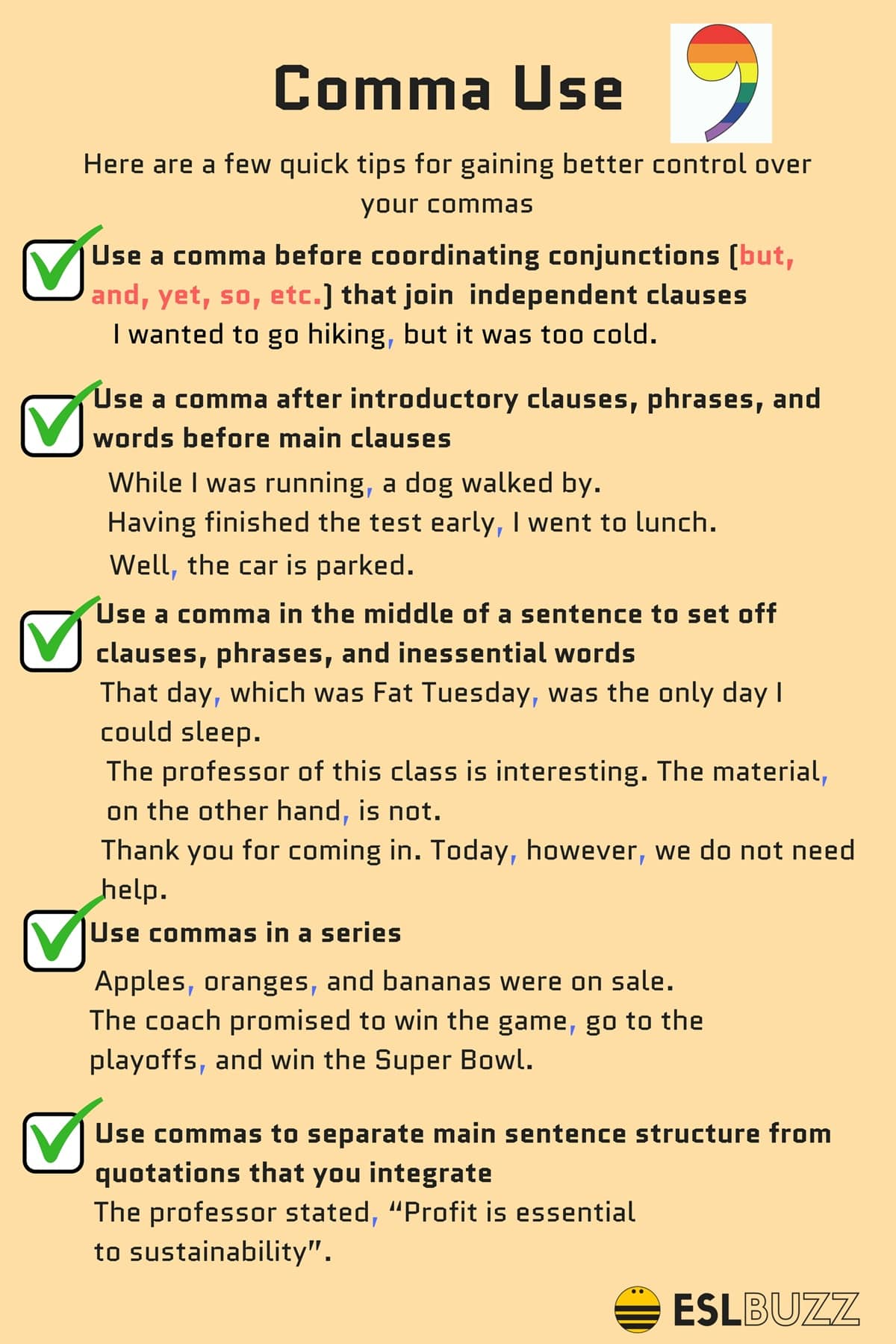 Rules For Comma Usage How To Use Commas Correctly