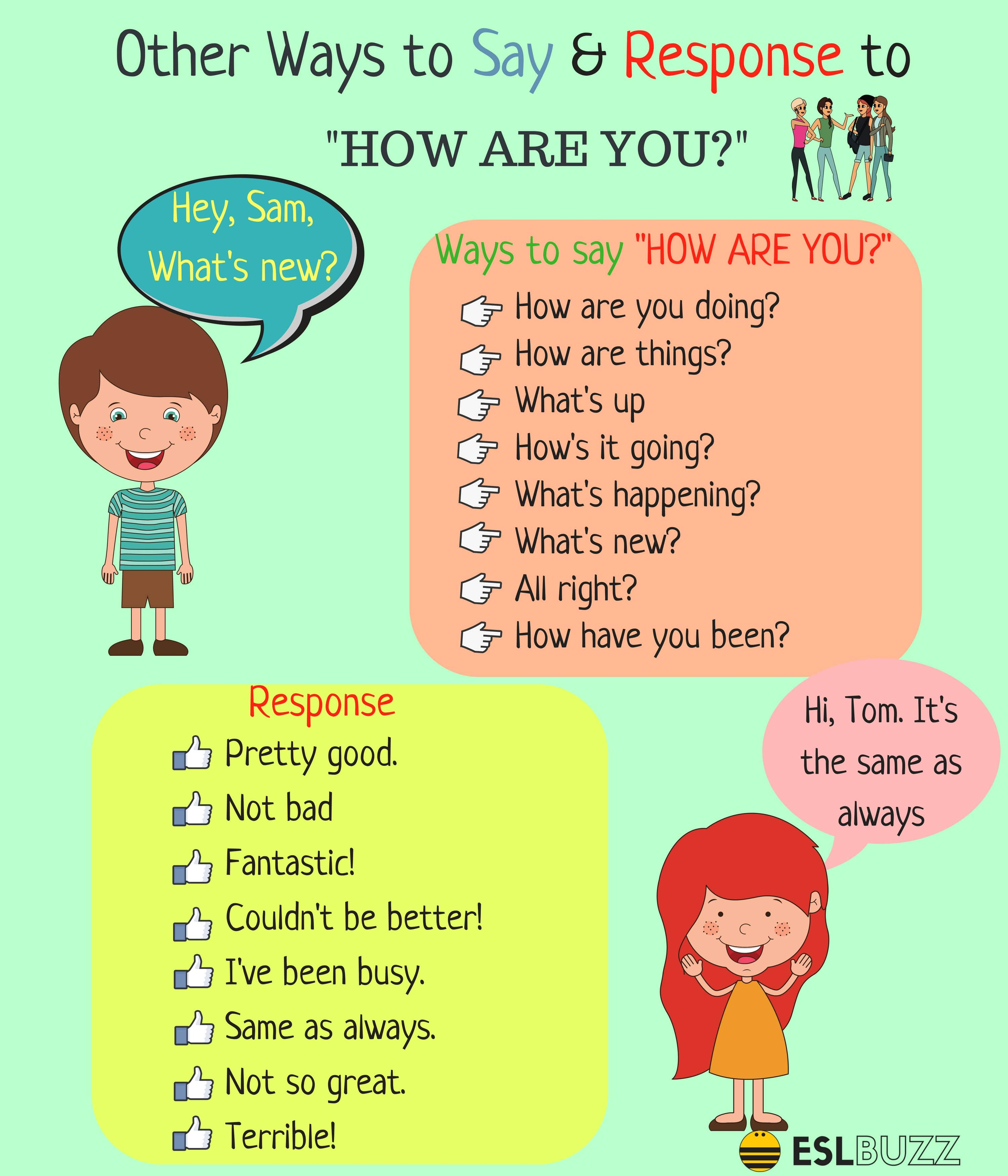 Different Ways To Say And Response To How Are You