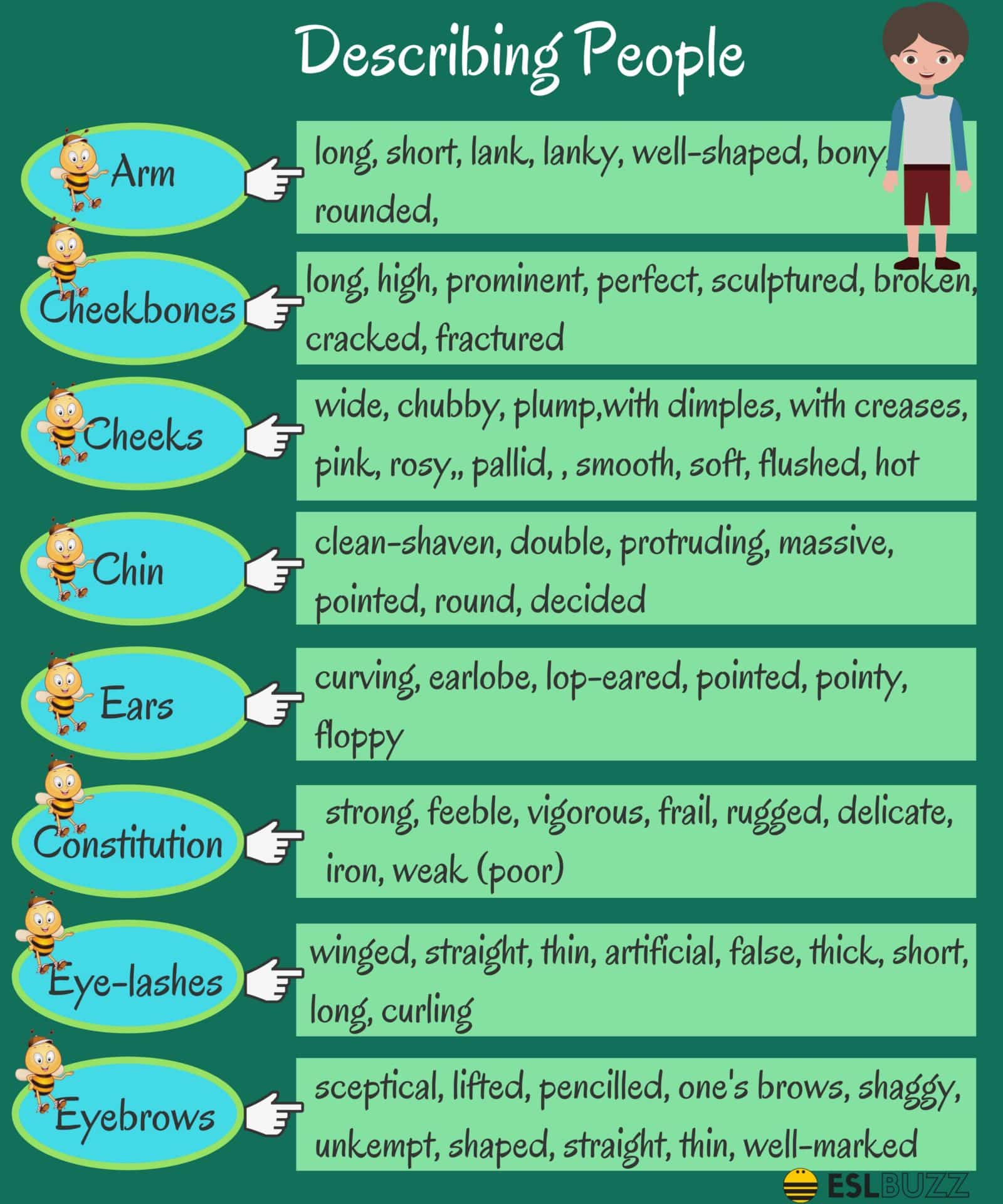 English Words For Describing A Person S Appearance