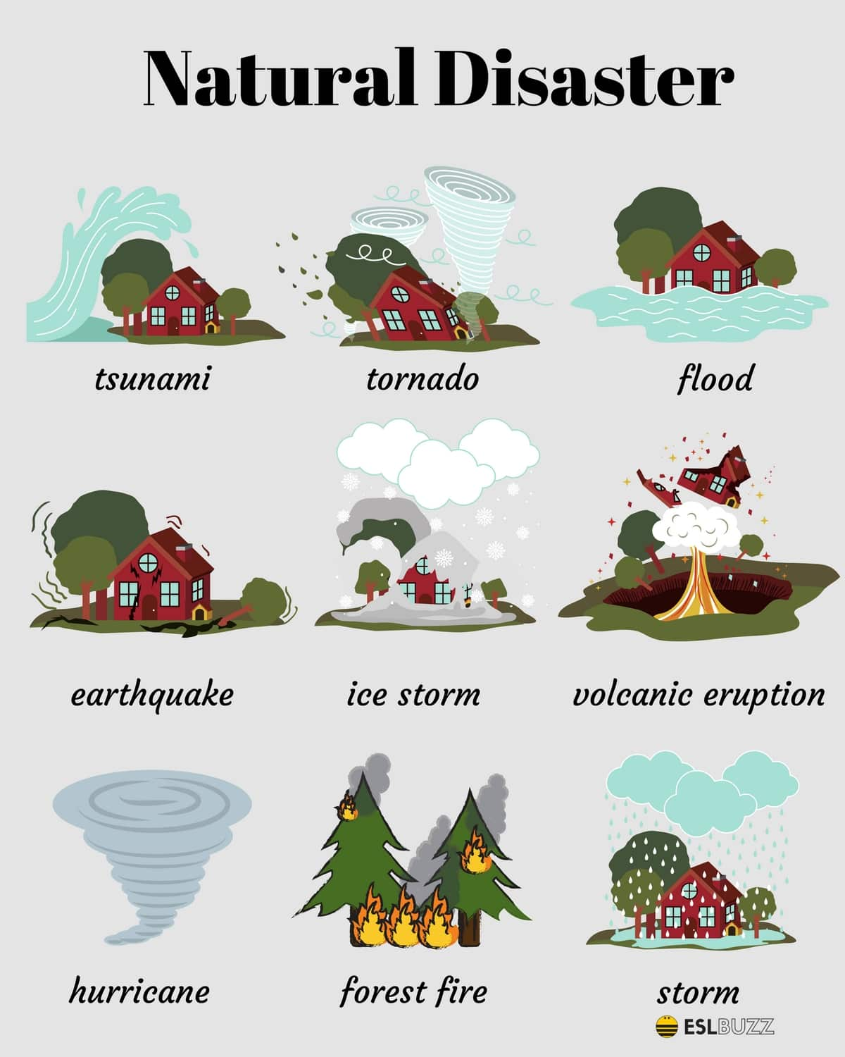 Natural Disasters Vocabulary Ielts