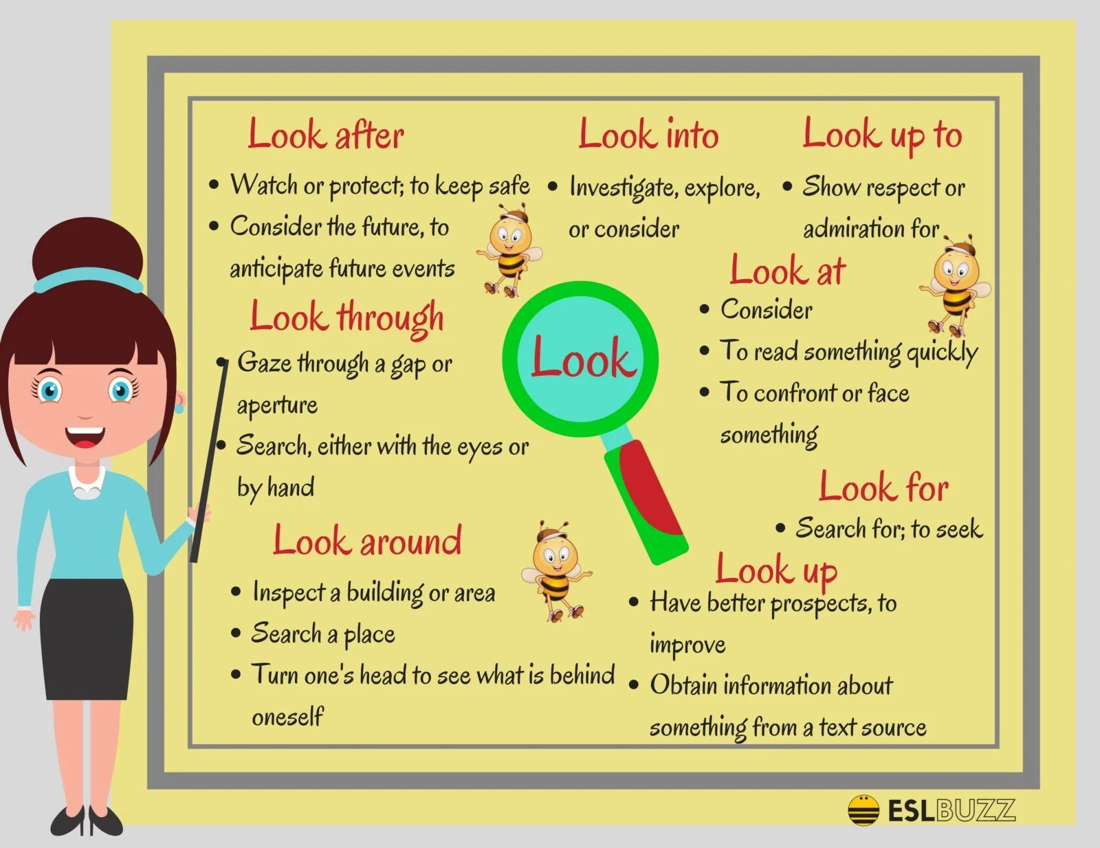 Common Phrasal Verbs With Look In English