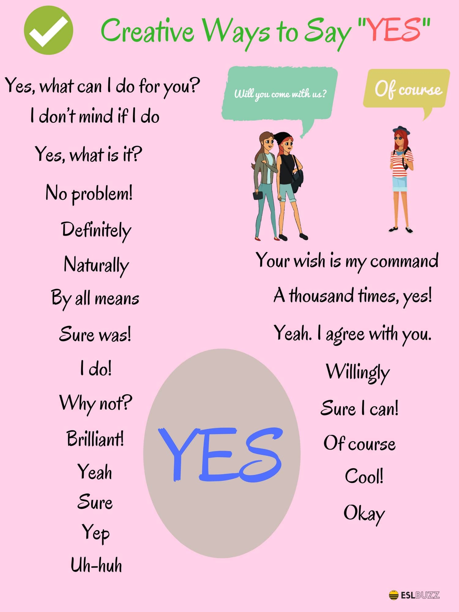 """100 Creative Ways to Say """"YES"""" 14"""