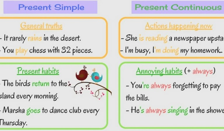 Grammar: Present Simple vs. Present Continuous