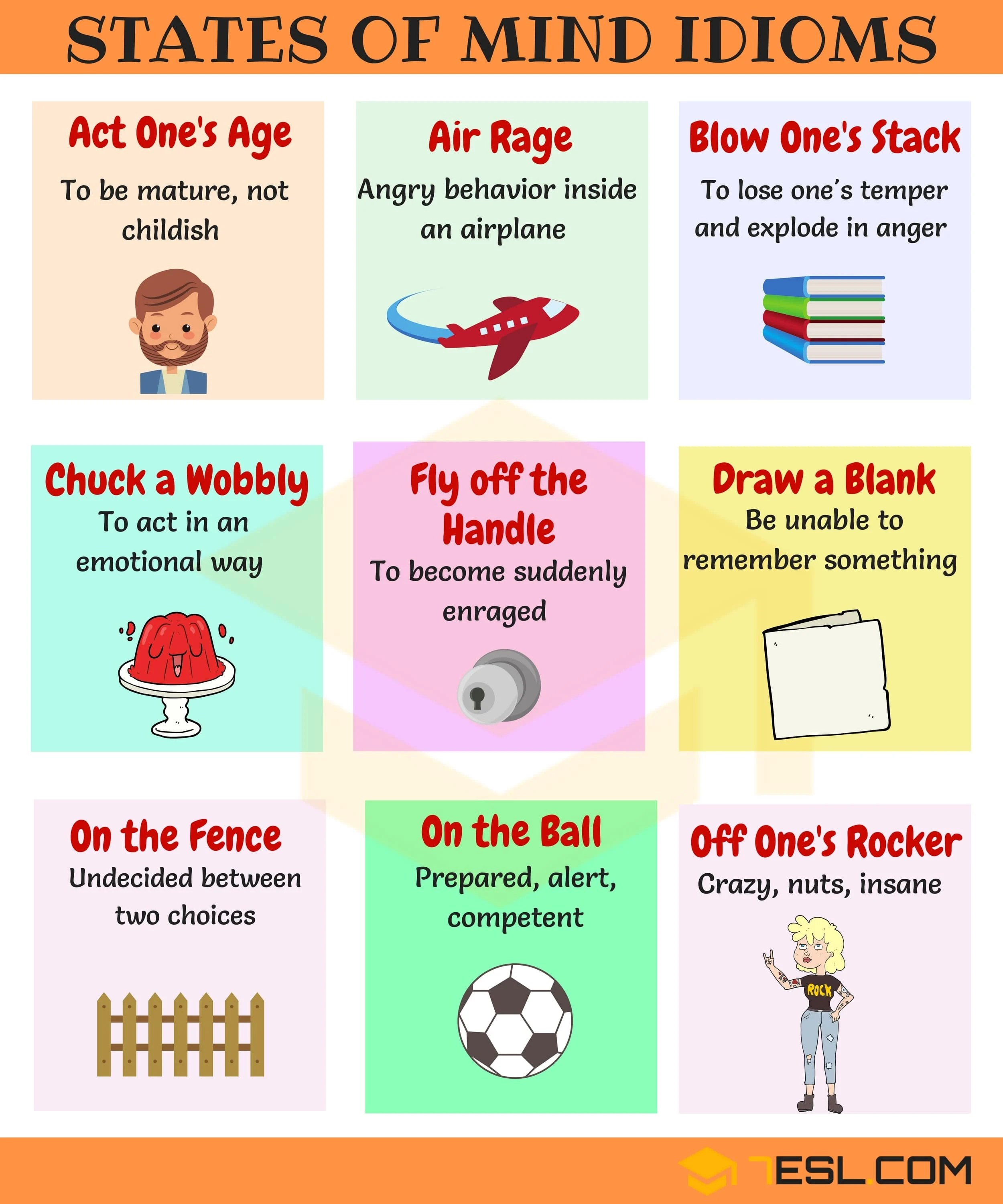 Commonly Used Idioms To Express Feelings And Emotions In