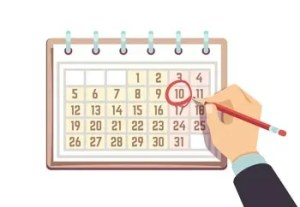 days, dates, numbers
