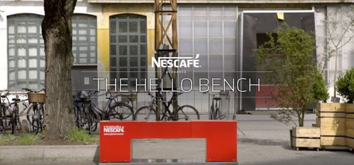 Banco de Nescafé: Hello Bench