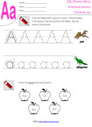 Letters A Z Tracing Kindergarten Phonics