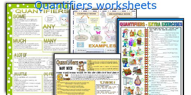 Quantifiers Worksheets