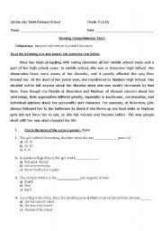 Reading Comprehension For Grade 5 Esl Worksheet By Nanoushka