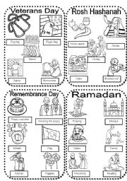Celebrations 1 Veterans Day Rosh Hashanah Ramadan