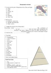 Mesopotamia Worksheets