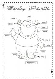 free printable parts of a body worksheets pdf # 4