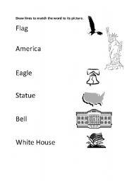 English Worksheets American Symbols
