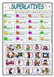 Superlative Adjectives Worksheets