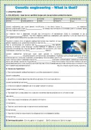 Genetic Engineering Worksheets