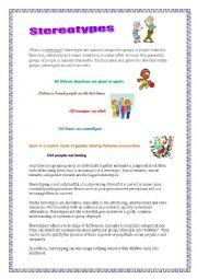 Stereotypes Worksheets