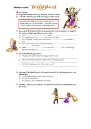 Tangled Worksheets