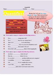 Quantifiers Worksheet For Grade3 4 5