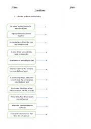 Landforms Worksheets