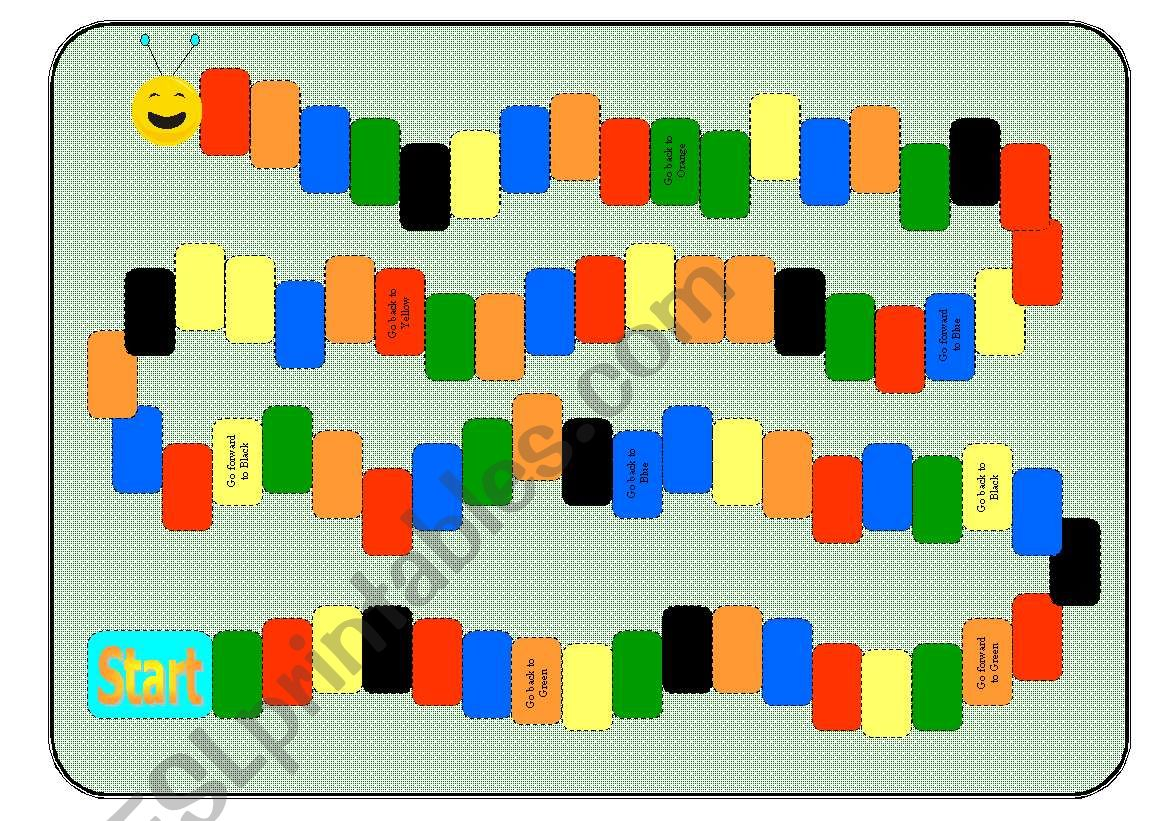 Color Worm Board Game