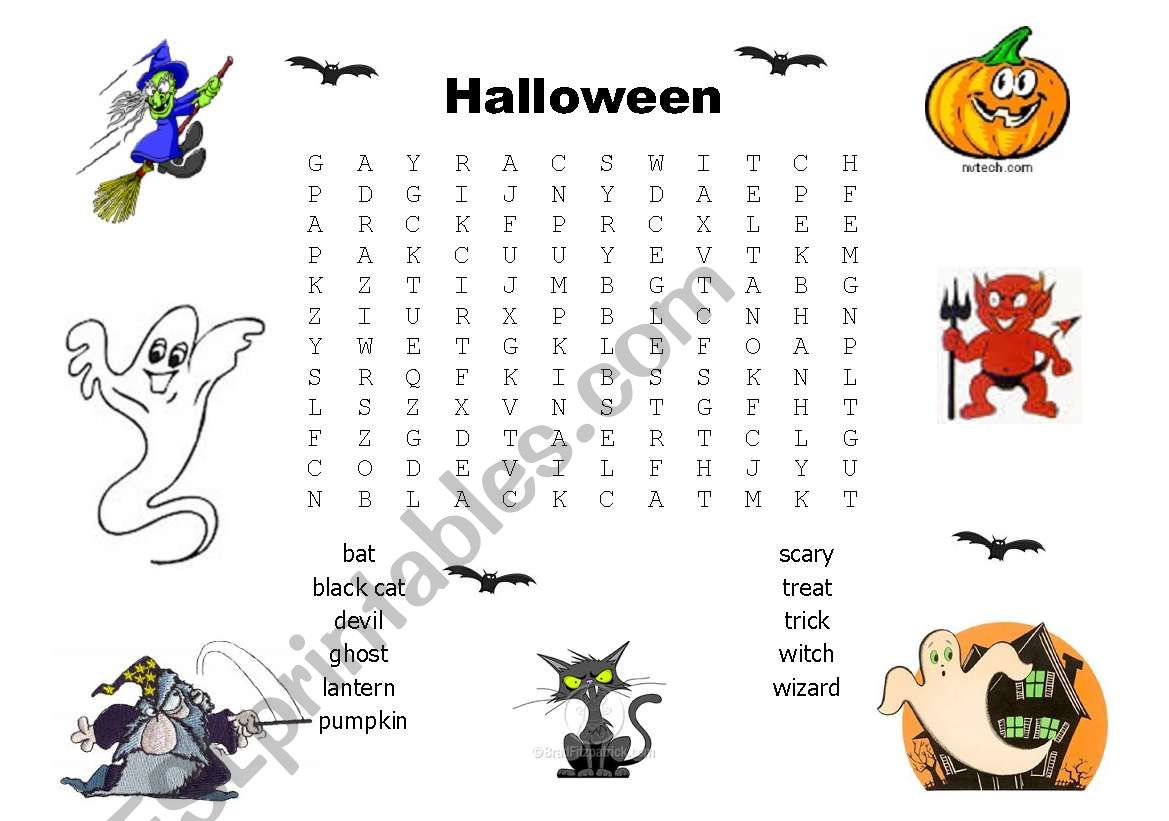 Halloween Wordsearch